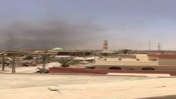 لقطة من القصف على احدى مدن الانبار غرب العراق