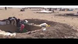نازحي الموصل في العراء